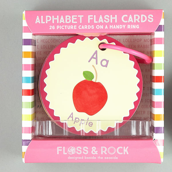 Flash Cards Alphabet A is for Apple