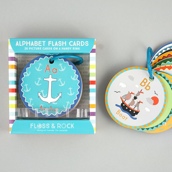 Games and Puzzles - * NEW * Flash Cards Alphabet A is for Anchor - Floss and Rock