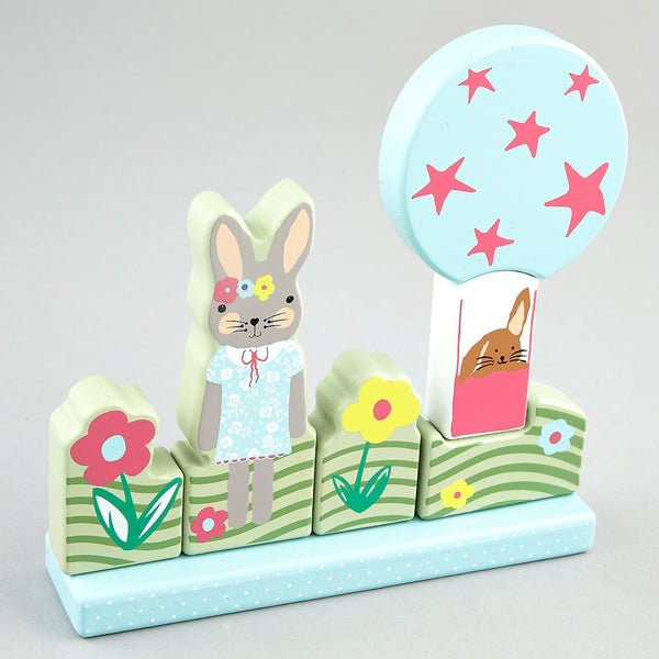 Games and Puzzles - * NEW * Magnetic Puzzle Bunny Rabbit - Floss and Rock