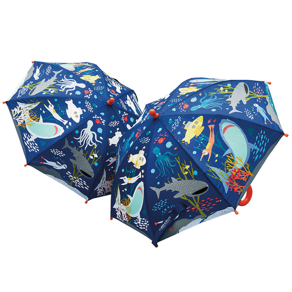 * NEW * Colour Changing Umbrella Deep Sea