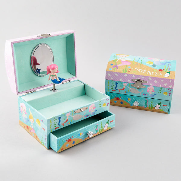 Musical Jewellery Box with a Drawer Mermaid