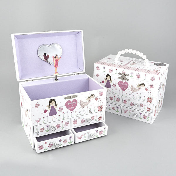 Musical Jewellery Box Fairy Blossom Delux