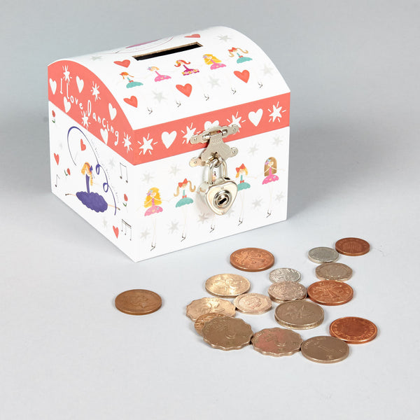 Money Box Dome with Silver Heart Lock Ballet