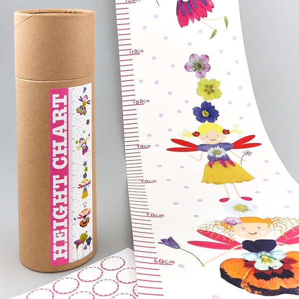 Height Chart with Stickers Petal Fairy (REDUCED)
