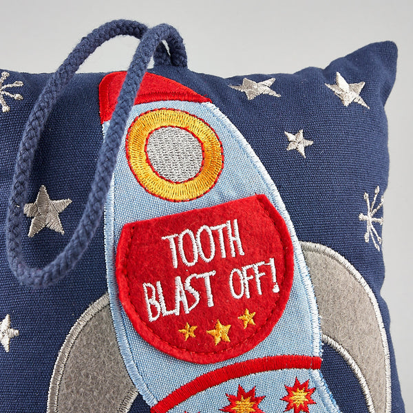 Tooth Fairy Cushions - Tooth Fairy Cushion Rocket - Floss and Rock