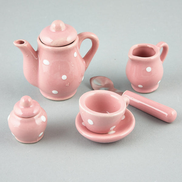 Tea Set 17pc Spotty