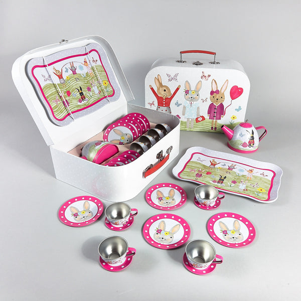 Tea Set 15pc Bunny Rabbit