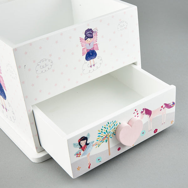 Wooden Drawers - * NEW * 1 Drawer and Trinket Box Fairy Unicorn - Floss and Rock