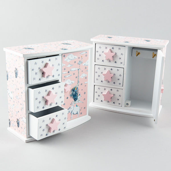 3 Drawers with Door Wardrobe Party Animals