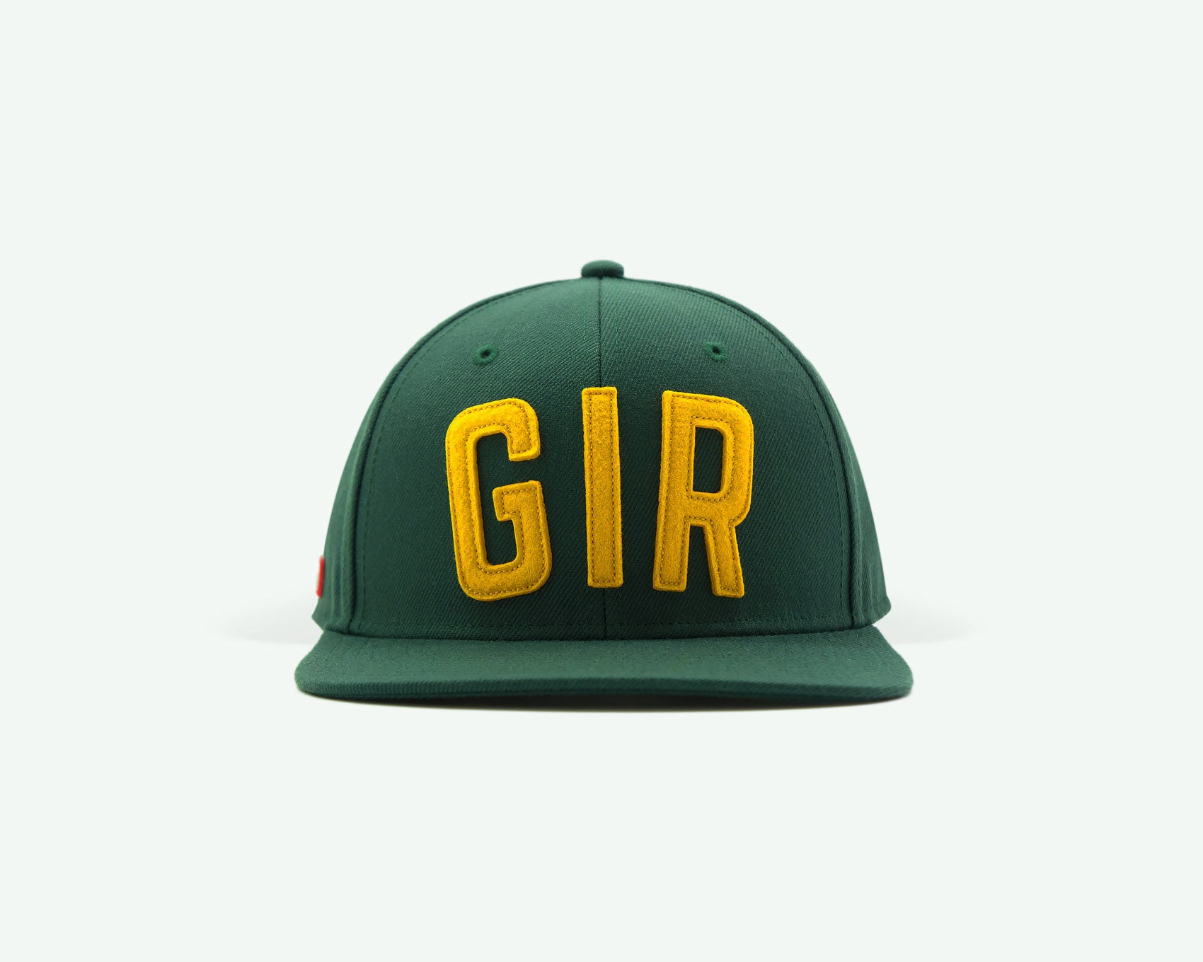 "107 ""GIR"" series green-yellow master edition coloured structured wool blend 6-panel golf caps"