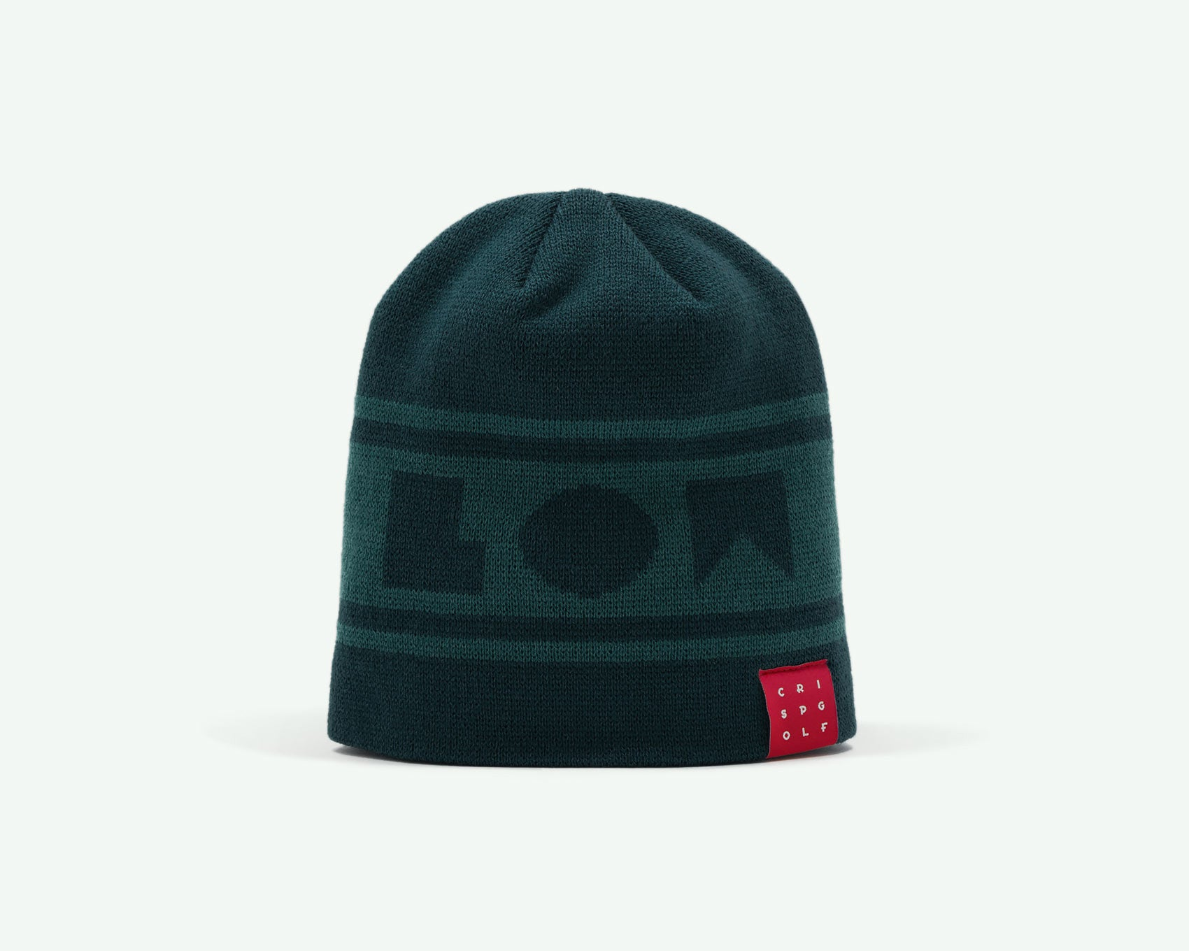 "116 ""Go Low"" Racing green coloured fine-knit golf beanie. 100% acrylic"