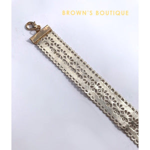 Gold Cut Out Choker