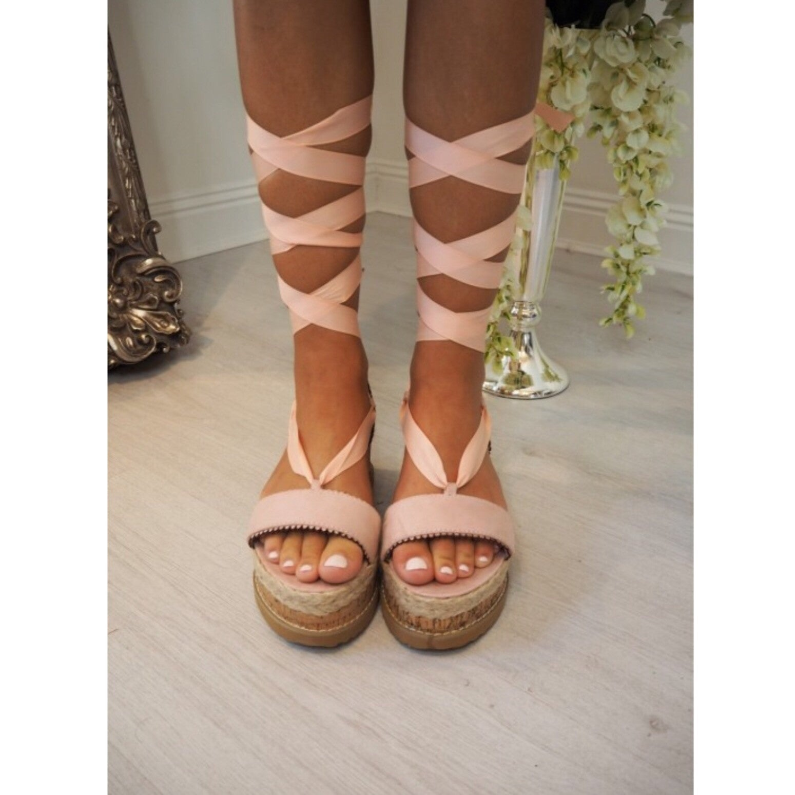 Ribbon Flatforms - Pink