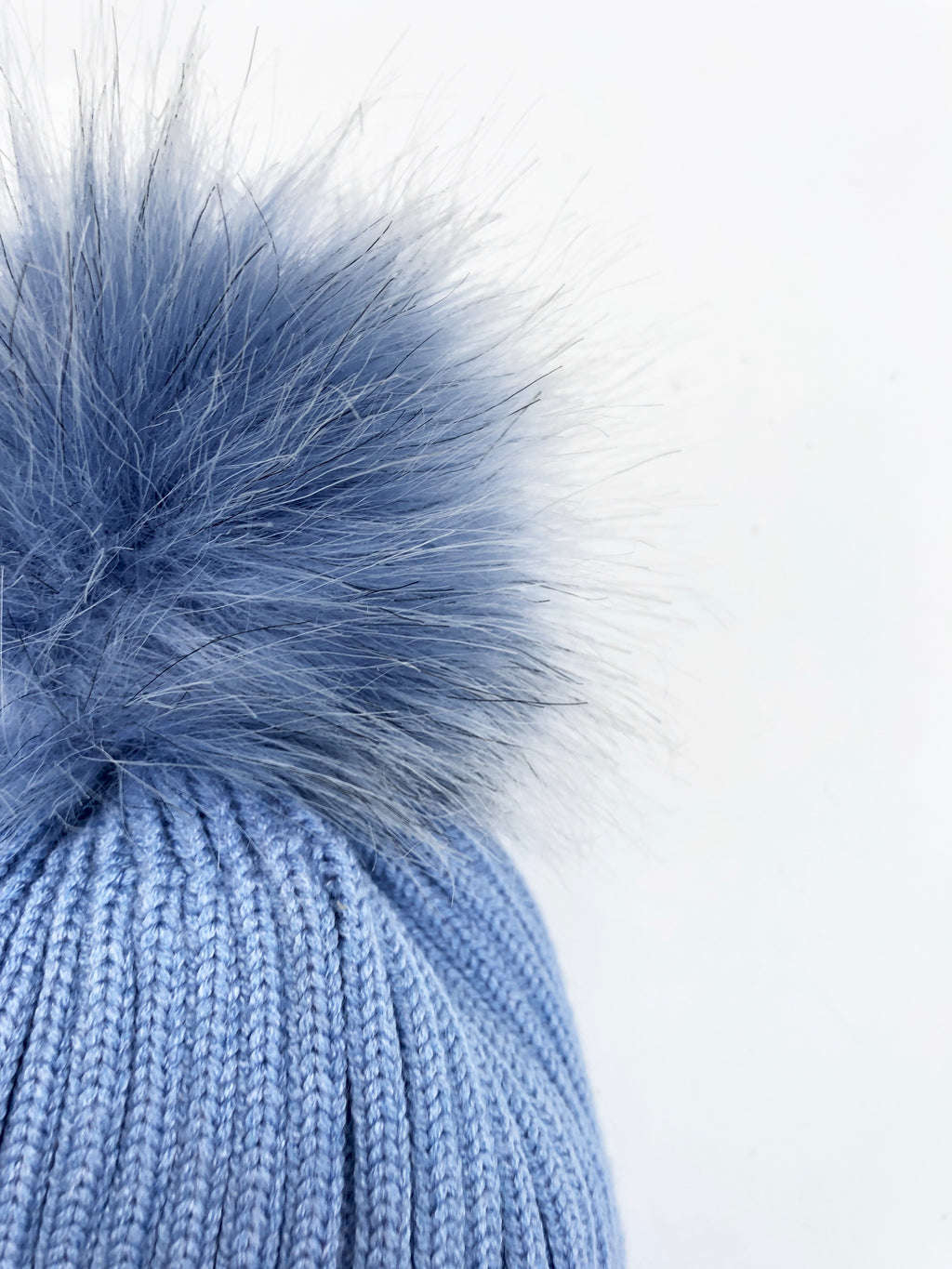 Classic PomPom Hat - Blue