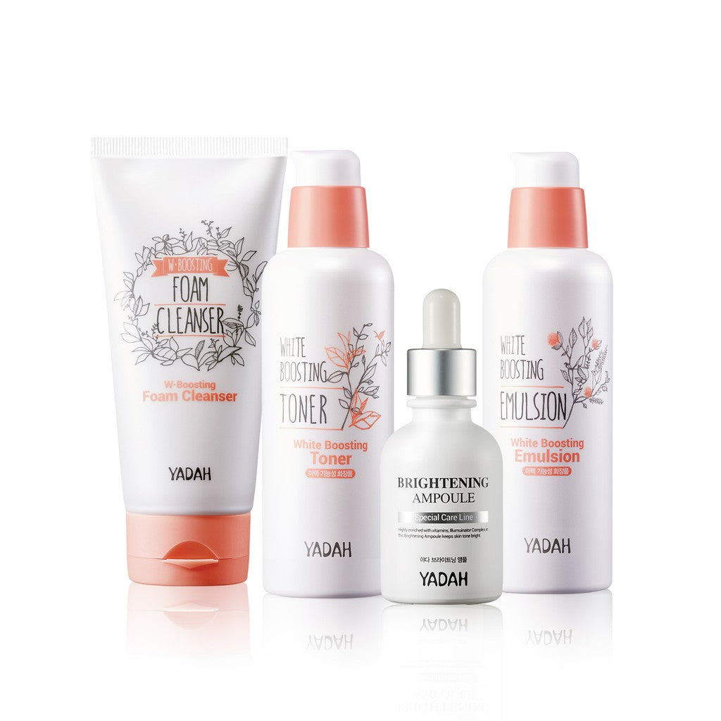 [BEAUTY BOX] YADAH 3-Step Whitening Set [FREE] Brightening Ampoule