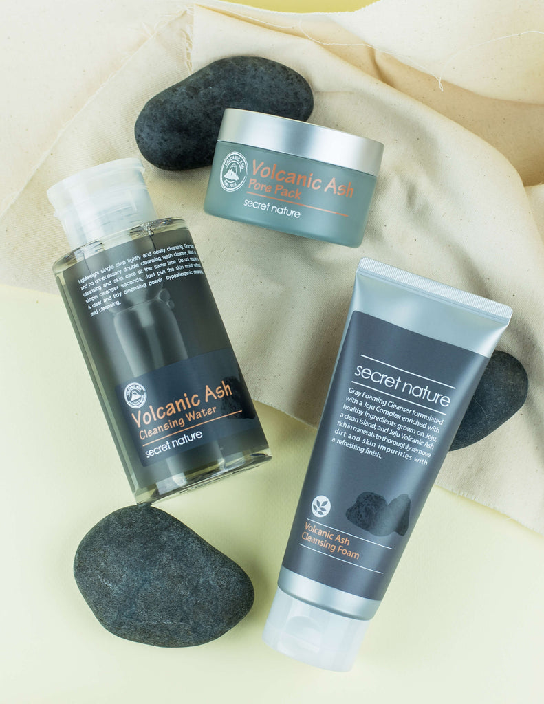 secret nature Volcanic Ash Pore Care Set