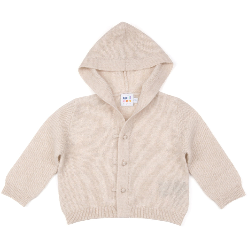 100% cashmere jacket with hood