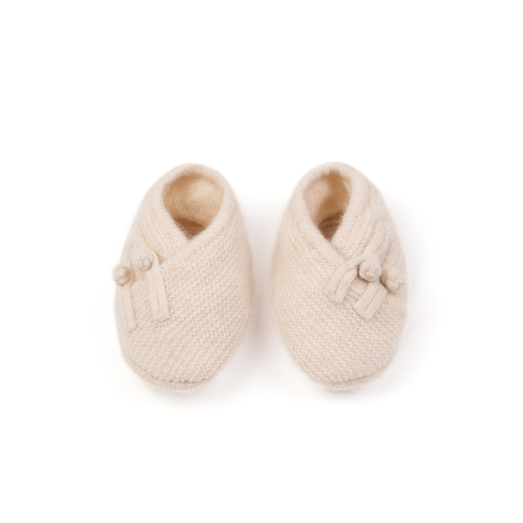 100% cashmere baby booties