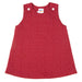 Baby girls sleeveless dress. Red with white star pattern.