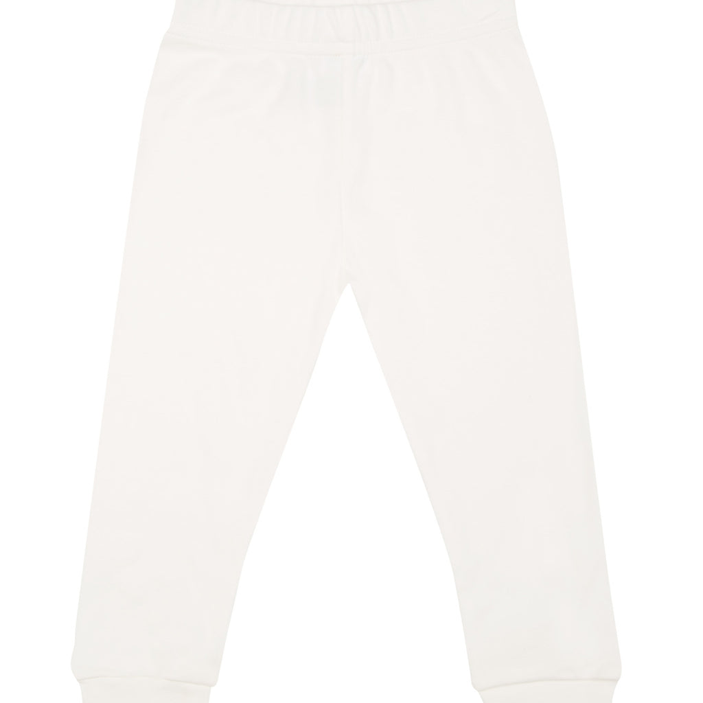 Harem pants in milk cotton - pink logo.