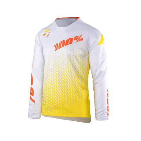 CAMISETA DESCENSO 100% R-CORE SUPRA (WHITE/YELLOW)
