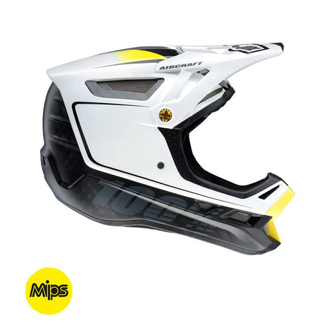CASCO DESCENSO 100% AIRCRAFT CON MIPS (BI-TURBO WHITE)