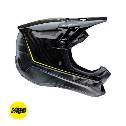 CASCO DESCENSO 100% AIRCRAFT CON MIPS (RAW BLACK)