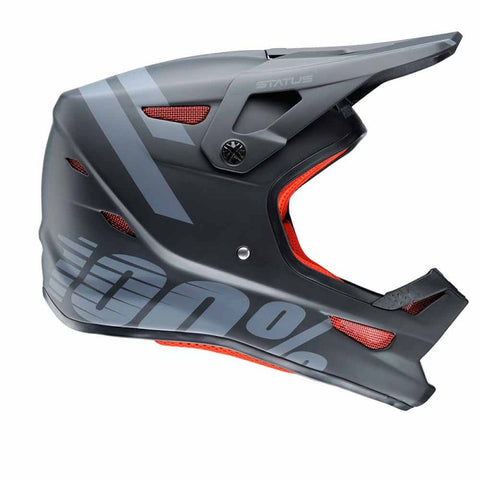 CASCO DESCENSO/BMX/ENDURO 100% STATUS (BLACK METEOR)