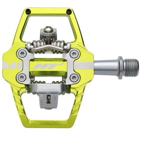 PEDALES ENDURO HT T1 (APPLE GREEN)
