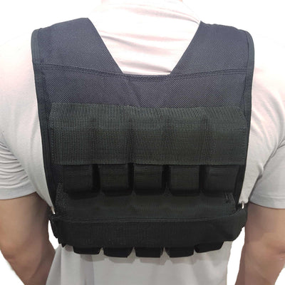 Back of weight vest