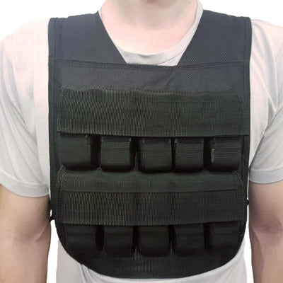 Front of weight vest