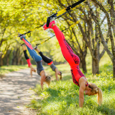 Suspension trainer handstands