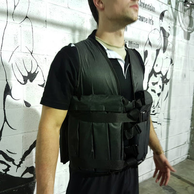 Weighted gym vest from the front