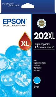 Epson 202XL Genuine Cyan Ink Cart Ink Cartridge