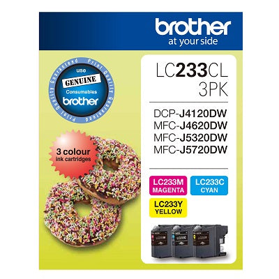 Brother LC-233CL3PK  Inkjet Cartridge