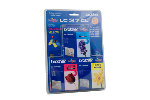 Brother LC-37CL3PK  Inkjet Cartridge