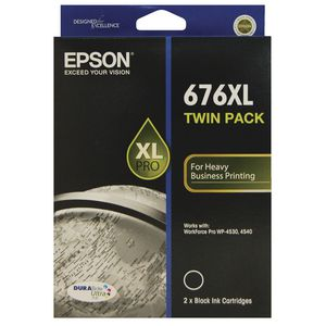 Epson 676XL B TWIN  Inkjet Cartridge