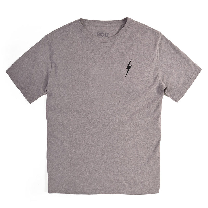 Essential Bolt Tee - Heather Grey - The Revive Club