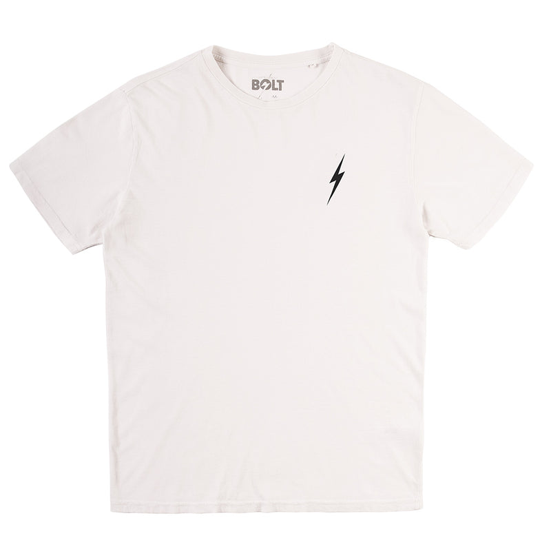 Essential Bolt Tee - Egret - The Revive Club