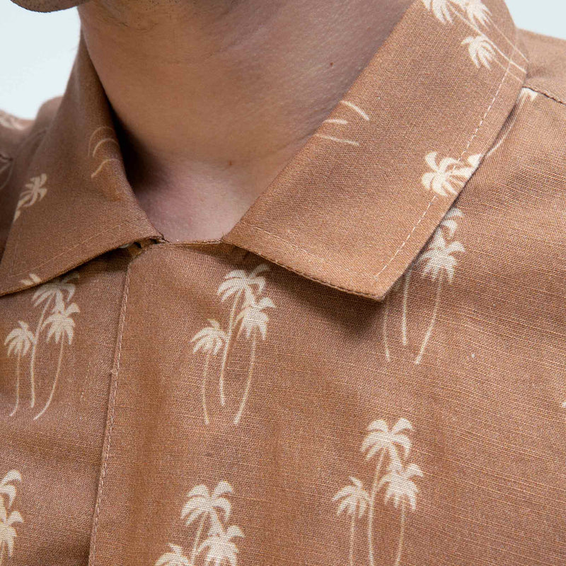 Selleck Short Sleeve Shirt - Palm Breeze
