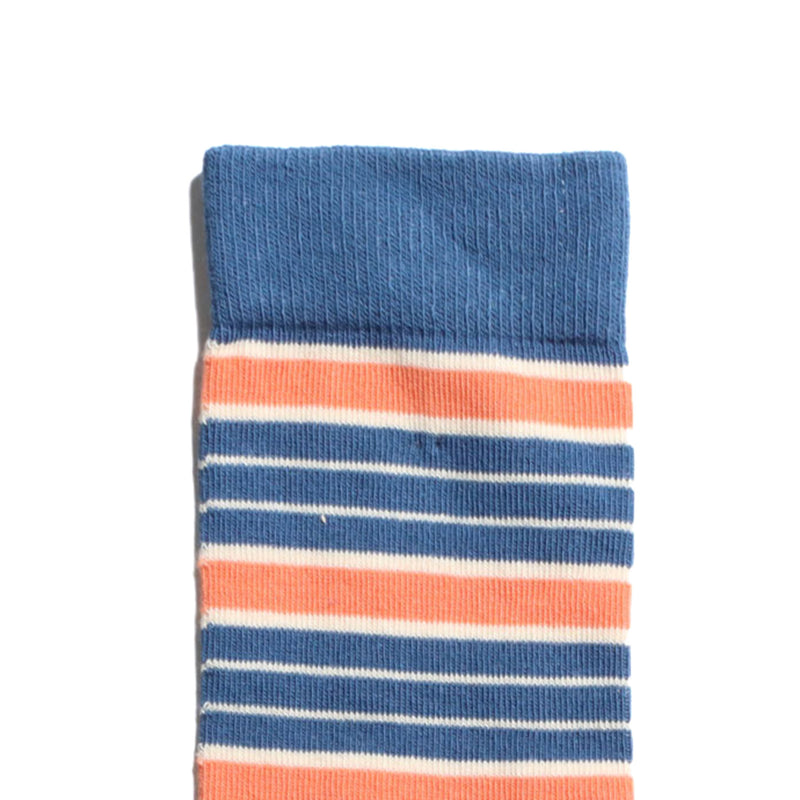 Soy Stripe Socks - Blue & Red