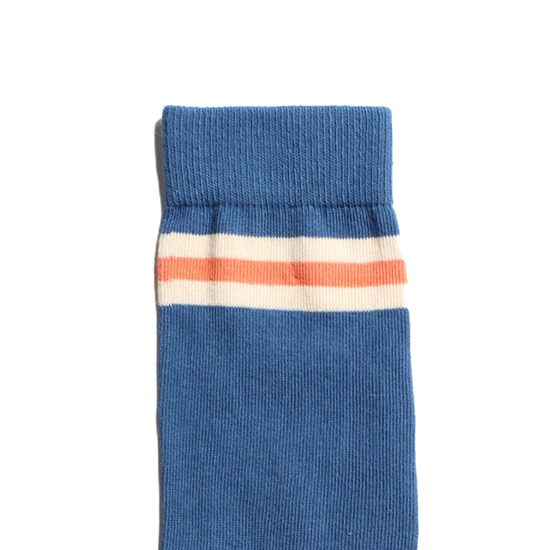 Trio Stripe Socks - Blue & Red