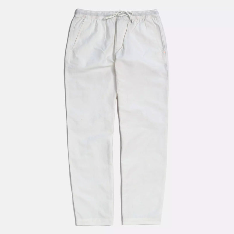 House Trousers in White Sand Linen