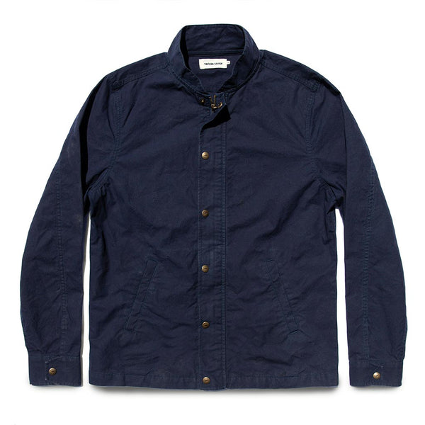 The Bomber Jacket in Navy Dry Wax - The Revive Club