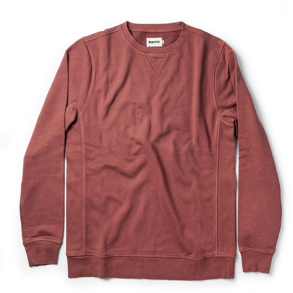 The Crewneck in Brick Red Terry