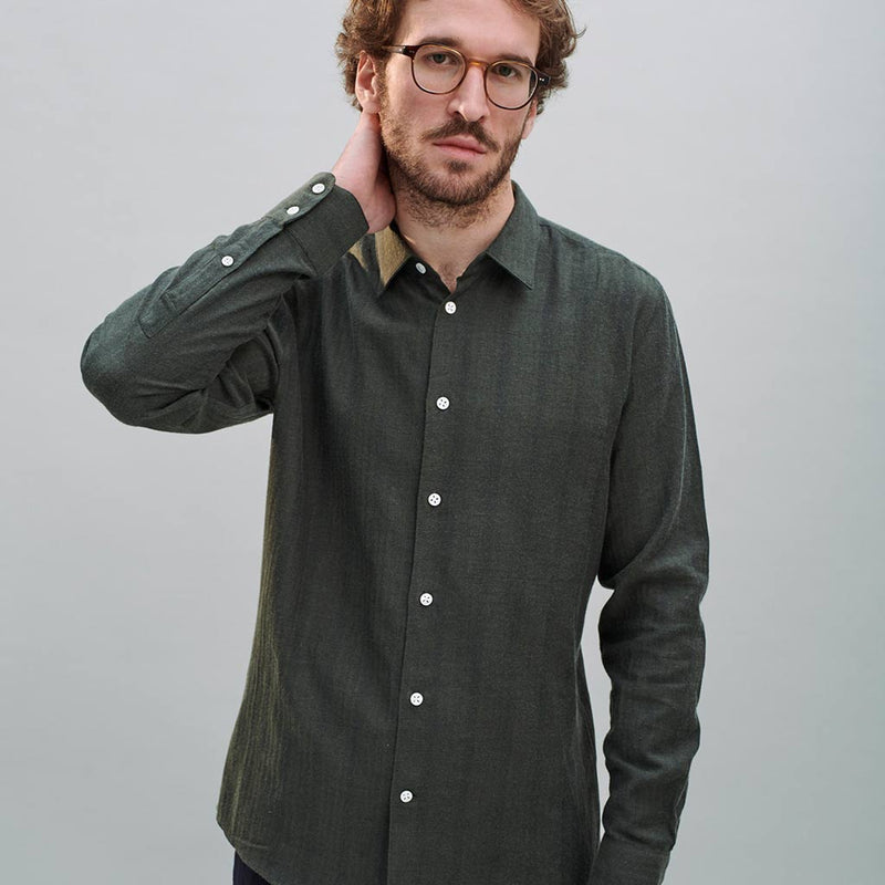 Feelgood Shirt in Herringbone Flannel - The Revive Club