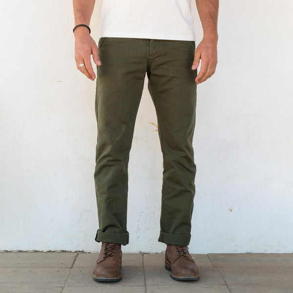 Workers Chino 14oz Slub Army Green