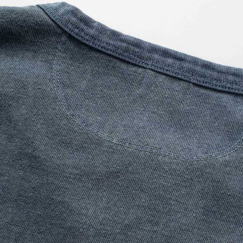 13oz Henley in Faded Blue