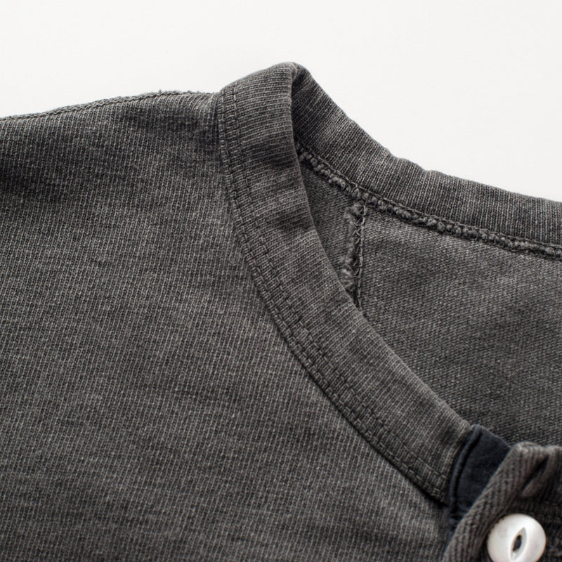 13oz Henley in Midnight