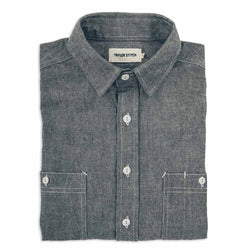 The California in Charcoal Everyday Chambray - The Revive Club
